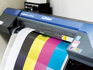 A large scale on-demand ink jet printer.
